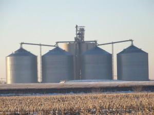 Photo of Northern Crossing Bin Installation by Prairie Land Millwright