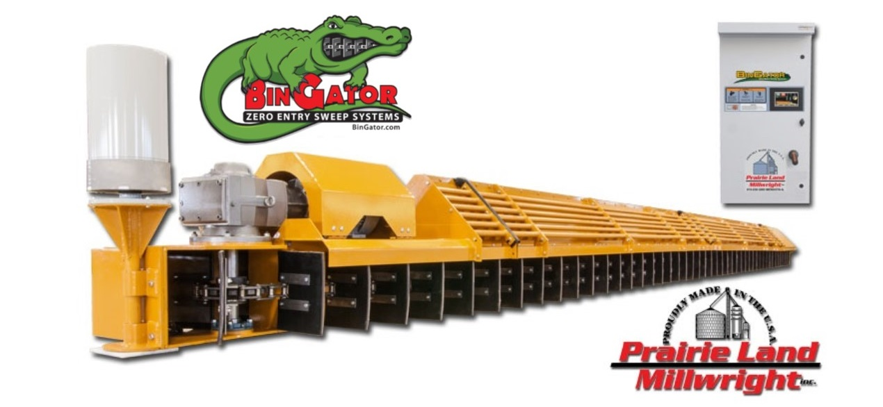 Bin Gator Bin Sweep System Including Optional Remote Control